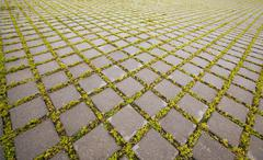 paving slabs - stock photo