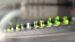 4k Lights on working network server. UHD stock footage Stock Footage