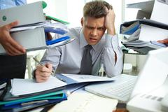 Much to do - stock photo