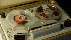 Old reel to reel tape recorder Stock Footage