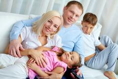 Family at leisure - stock photo