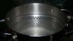 Pasta Pot Boiling Water Stock Footage
