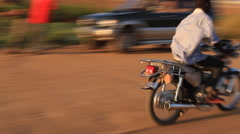 Stock Video Footage of Busy Road at Dusk in JUBA, SOUTH SUDAN