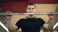 Powerlifting Exercise Stock Footage