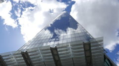 The Shard on a cloudy day - awesome view Stock Footage