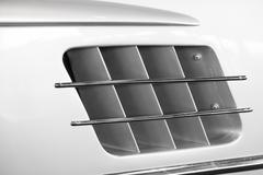 the air intake of a sports car - stock photo