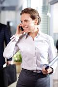 Telephone consultation Stock Photos