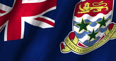 Cayman Islands waving flag 4K Stock Footage
