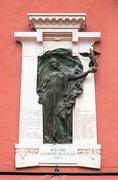 Verona, Italy - Plaque to commemorate those killed in the Libyan war - stock photo