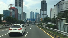Time laspe of Asian city traffic Stock Footage