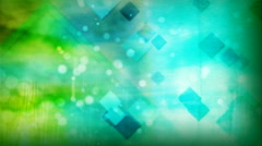 Blue and Green Diamonds Stock Footage