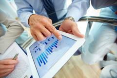 Digital financial data Stock Photos