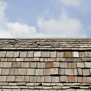 Shingle roof in Thai temple Stock Photos