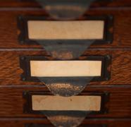 Old File Drawers - stock photo