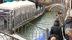 Venice travel only by boat or on foot. There is no road for cars. Stock Footage