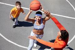 Basketball amateurs Stock Photos