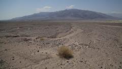 Pan of Death Valley National Park Stock Video - stock footage