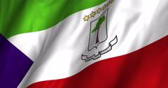 Equatorial Guinea waving flag 4K Stock Footage