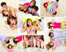 Holiday makers - stock photo