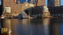 Boston Harbor Sunrise Stock Footage