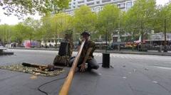 A street musician playing Didgeridoo Arkistovideo