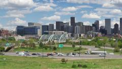 Denver Skyline Pan Left Stock Footage