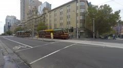 Tram In Melbourne Stock Footage
