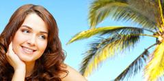 Tropic beauty - stock photo