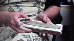 Handmade clay modeling. 4K. Stock Footage
