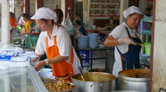 Cookshop in Chiang Mai, Thailand Stock Footage