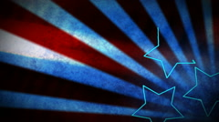 Stock Video Footage of Stars and Stripes 1080  background