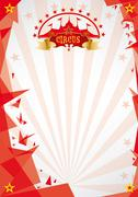 Stock Illustration of Circus red background origami
