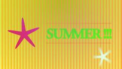 Animation with the word summer Stock Footage