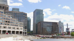 Canary Wharf at Westferry Circus Stock Footage