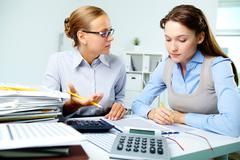 Accountants at work - stock photo