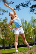 Outdoor fitness - stock photo