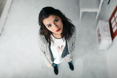 Emotsionalnaya Beautiful girl posing in camera - stock photo