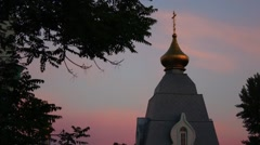 Chapel in the twilight Stock Footage