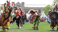 Pow Wow dancers - stock footage