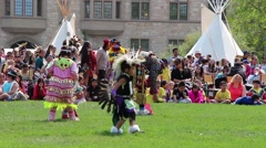 Little Pow Wow dancers - stock footage