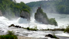 Rhine Falls at Schaffhausen, Switzerland #4 Stock Footage