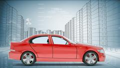Stock Illustration of Red car