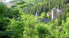 Reinhardstein Castle, Ovifat, Belgium Stock Footage