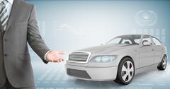 Businessman with car Stock Photos