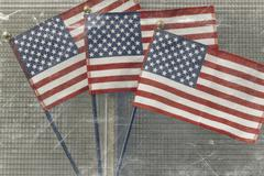 American Flags Patriotism - stock photo