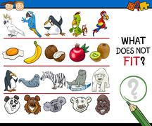 Stock Illustration of what does not fit game cartoon