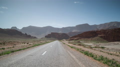 4k drive off-road mountains empty morocco Stock Footage