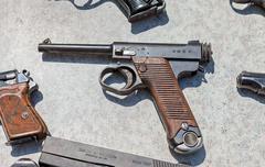 Type 14 Nambu WW2 Imperial Japanese Army 8mm Pistol - stock photo