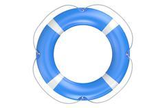 Single blue lifebuoy closeup Stock Illustration