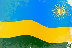 Rwanda Flag Grunge - stock illustration